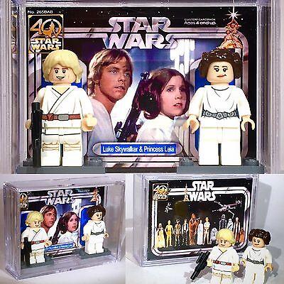 Custom Lego Star Wars Princess Leia with display box