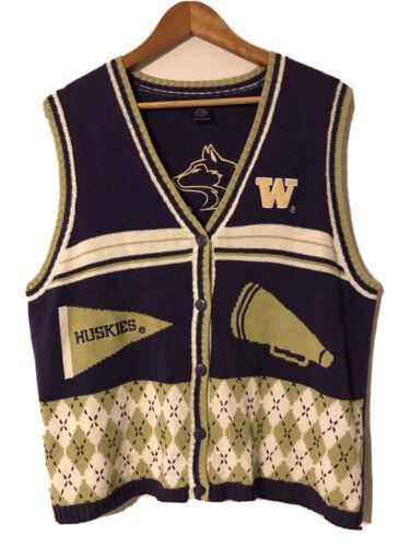 Birch Bros Sweater Vest Mens XL UW Washington Husk
