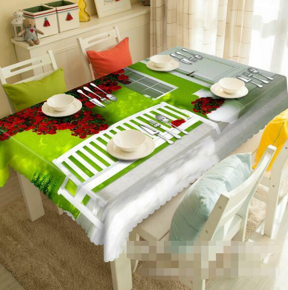 3D Room Flowers 7 Tablecloth Table Cover Cloth Birthday Party Event AJ WALLPAPER