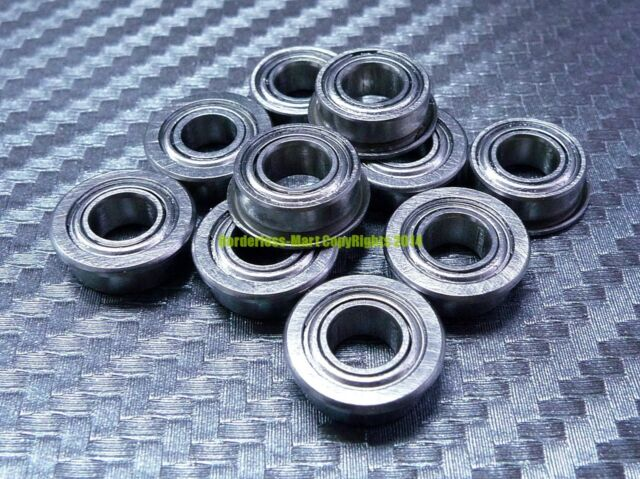 [5 Pcs] MF74zz (4x7x2.5 mm) Flange Metal Shielded Ball Bearing MF74z 4*7*2.5