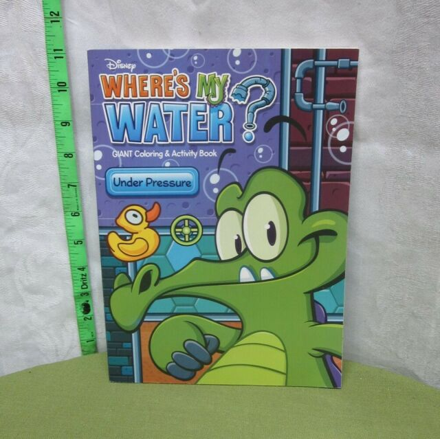 Where's My Water Swampy Coloring Activity Book Disney Gator Under Pressure  2014 For Sale Online EBay