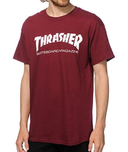 Thrasher Tee Skate Mag Maroon Skateboard Magazine Premium T-Shirt