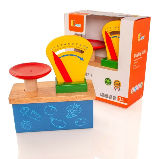 Wooden Weighing Balance Scale Viga Preschool Early Learning