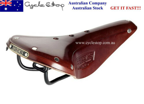 Classical timeless vintage style. Brooks leather bicycle saddle B17