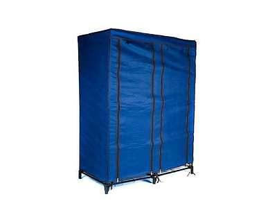 Trademark Home Portable Closet with 4 Shelves - Navy Blue