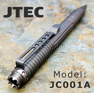 JTEC Aluminum Tactical Pen DNA CATCH Self Defense Liquid Titanium JC001A