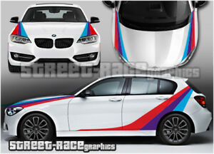 Details About Bmw Racing Stripes Full 001 Graphics Stickers Decals M Sport 1 2 3 4 5 Series
