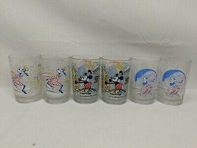 Set of 6 McDonald/'s Disney World 100 Years of Magic Glasses Mickey Goofy Epcot