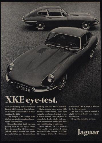 VINTAGE AD Eye Test XK-E Coupe 1968 JAGUAR XKE Sports Car
