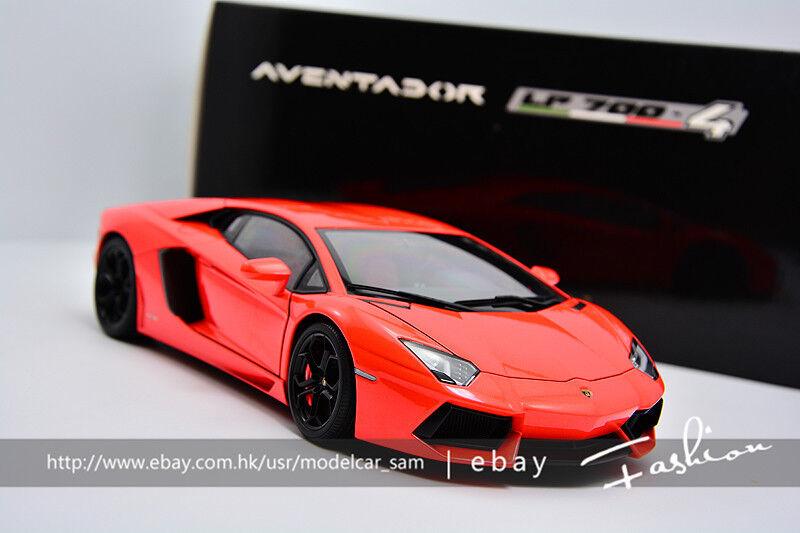 Autoart 1 18 Lamborghini Aventador LP700-4 arancia