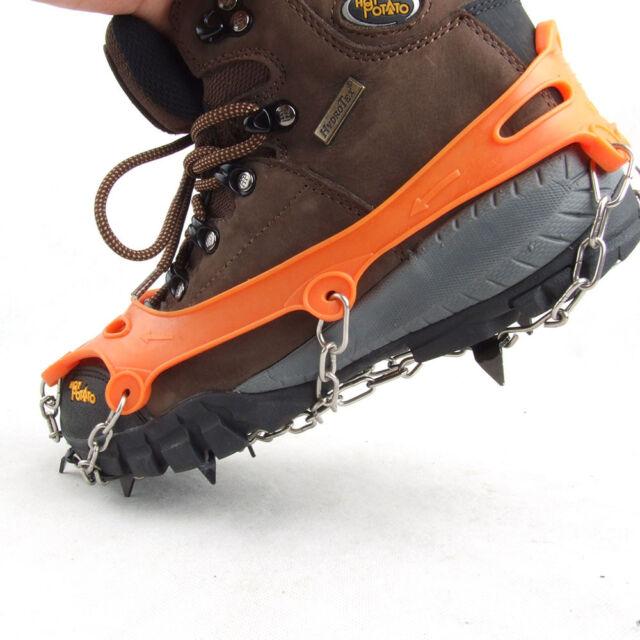Portable 8-Teeth Camping Climb Climbing Ice Crampon Ice Snow Walking Cleat New