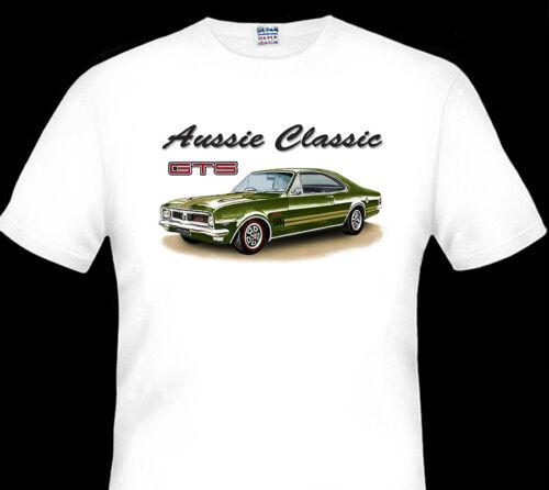 1969 HOLDEN  HT  GTS  MONARO QUALITY  WHITE TSHIRT 8 CAR COLOURS BIG FIT