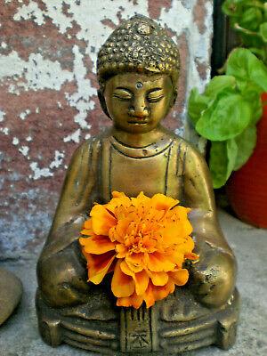 Das Beste Buddha Figur Mit Mulde Im Schoß ♥ Bronze ♥ Esoterik ♥ 13,5cm ♥ 995 Gr.♥ Neu ♥ AusgewäHltes Material