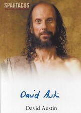 2012 SPARTACUS TRADING CARDS! Autograph DAVID AUSTIN as MEDICUS (#2)