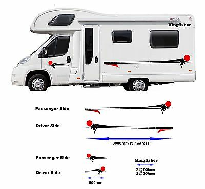 Motorhome Horsebox Caravan Campervan Decal Vinyl Graphics Stickers Livery MH0022