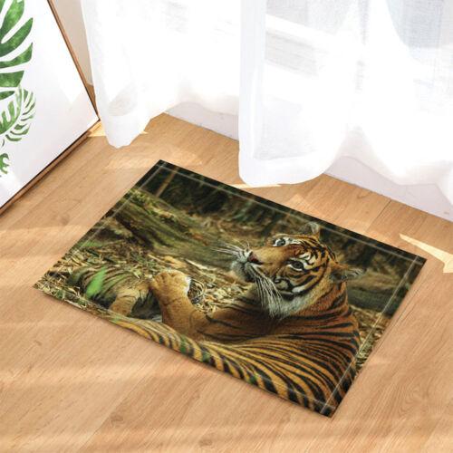 Wild Tiger Mum Touch Its Children Bathroom ShowerCurtainSet Fabric 71 Inches