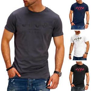 Jack-amp-Jones-T-Shirt-Hommes-O-Neck-Print-Shirt-manches-courtes-Shirt-Casual-Loisirs-Shirt