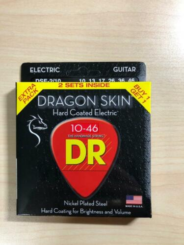 DR Strings Dragon Skin Electric Guitar Strings 2 Pack 10-46