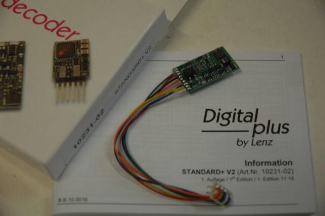 Lenz 10231-02  Digitaldecoder Standard+ V2 mit 8 Poligem Stecker für DCC NEU