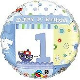 Happy 1st Birthday Balloons Party Ware Decoration Novelty Gift Helium Age 1