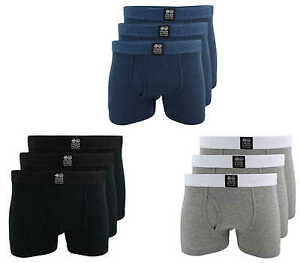 CROSSHATCH Boxer Shorts Boxer Triplet Ch 3PK Solid Boxer Underwear 3er Pack New