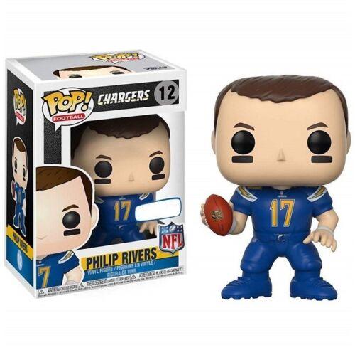NFL Philip Rivers-Los Angeles Chargers Vinyle Gable-HEAD NEUF 12 Funko POP