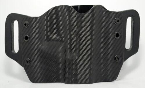 Black Carbon Fiber OWB Kydex Holster For Glock