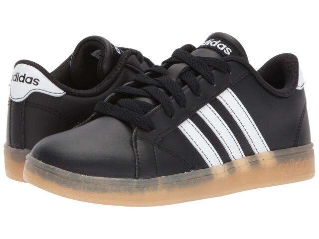 Junior Adidas Baseline K Sneaker AH2243 Black White Gum 100% Original Brand  New