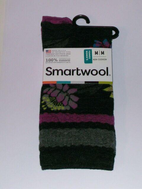 Merino Wool Crew SIZE MEDIUM ivory heather SmartWool Lilypond Pointelle Socks