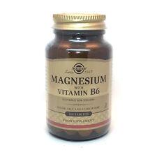 Solgar Magnesio con vitamine B6 Compresse - 100 Bottiglie Di Tablet