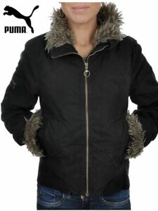 New Ladies Women s Puma Sherpa Lined Fur Collared Winter Padded ... 271f94ea30