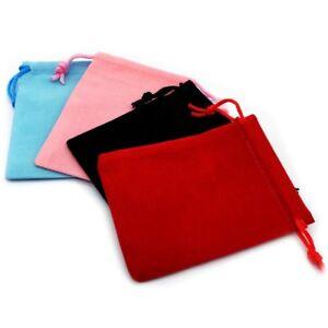 1-50-Negro-Rojo-Rosa-Joyas-De-Terciopelo-Bolsa-De-Cordon-Boda-Regalo-Favor-Bolsas