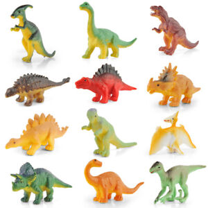 Lot of 12 for kids Learning Toys US Toy Assorted Mini Dinosaur Plastic Figures