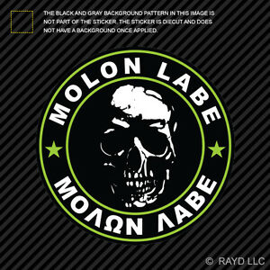 Molon Labe Windshield Sticker Die Cut Decal Self Adhesive Vinyl 2A Large #2