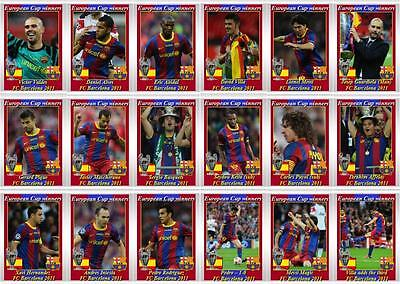 FC Barcelona European Champions League winners 2011 football trading cards - eBay