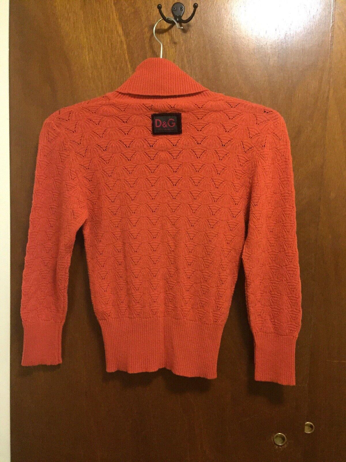 D&G DOLCE & GABBANA Wool Blend Turtleneck Knit Sw… - image 2