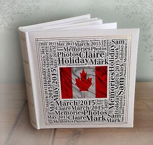 Personalizado gran álbum de fotos, 200 X 6x4 &#034;Fotos, Canadá vacaciones o luna de miel  </span>