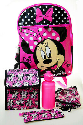 """Disney Minnie Mouse Girls 16/"""" Kids Large Backpack"""