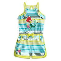 Disney Store Ariel Retro Style Soft Knit Romper For Girls Lots Of Nice Detail