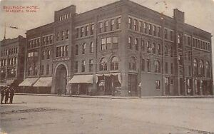 Mankato-Minnesota-Saulpaugh-Hotel-Commercial-College-Bank-c1910-Postcard