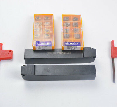 SCLCL2020K09 + SCLCR2020K09 Lathe Turning Tool Holder + 20pcs CCMT09T304 /308