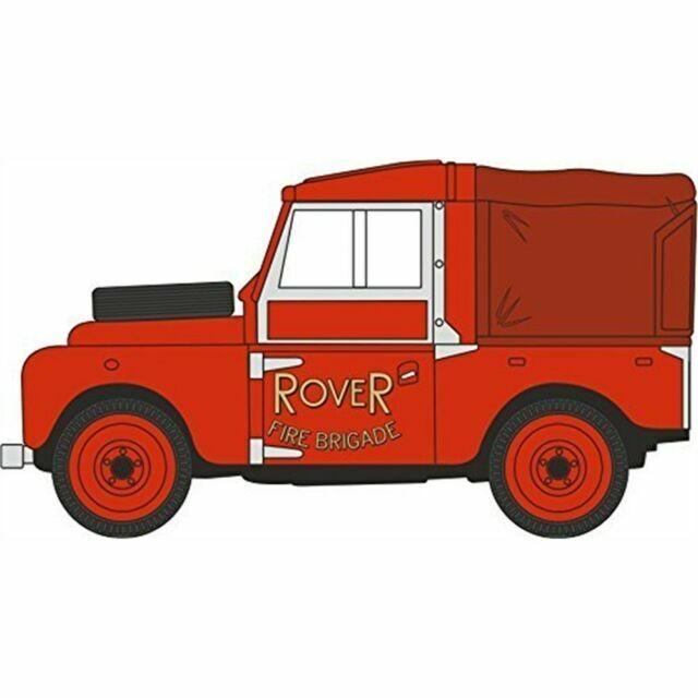 NLAN188010 Oxford Diecast N Gauge Land Rover Series 1 Rover Fire Brigade