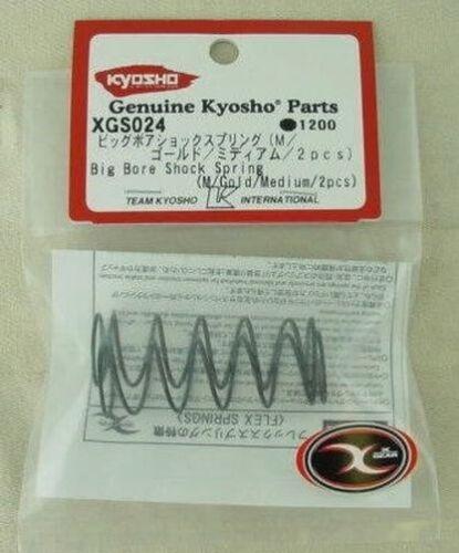 KYOXGS024 Gold//Medium Kyosho Ultima DB//SC//RT5 Big Bore Front Shock Spring Set