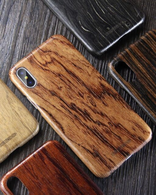 meet 923d5 b494c Iphone X Xs Max Xr Case Genuine Wooden Cover Natural Wood Protective Slim  Armor