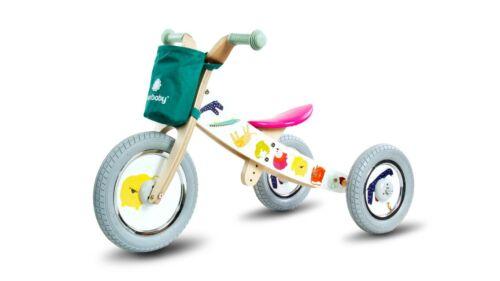 Dreirad Kinderfahrzeug Kinderwagen Fahrrad Holz Kinderfahrrad Laufrad Zweirad 2+