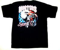 8 Xl Hooters Uniform 2004 Store Closed Sturgis Flag Biker T-shirt Work Ride