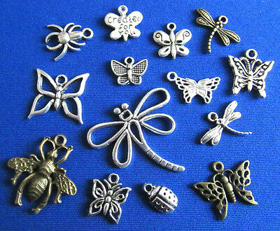 Tibetan Silver & Bronze Bugs & Insects Pendants and Charm Beads Jewellery Crafts