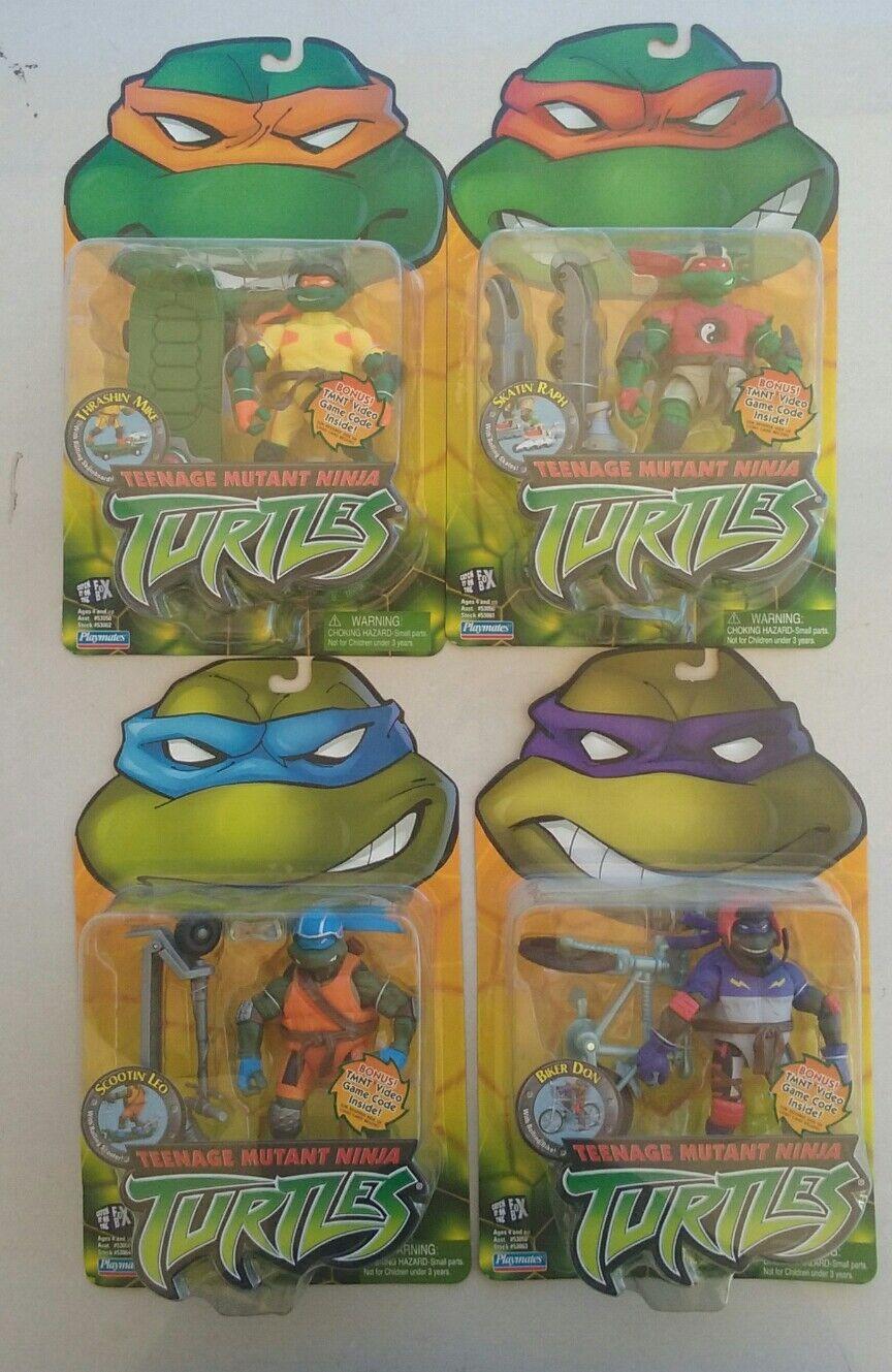 Teenage Mutant Ninja Turtles set of 4 Extreme In-Line. Tmnt 2003 action figures