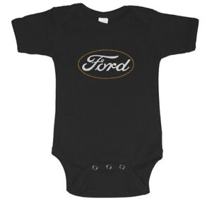 Ford baby clothes infant t-shirt one piece suit romper mustang trucks gifts