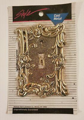 VTG American Tack /& Hardware Gold Roses Outlet Cover 60D